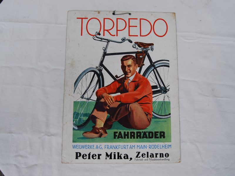 Torpedo Werbepappe, 20er Jahre