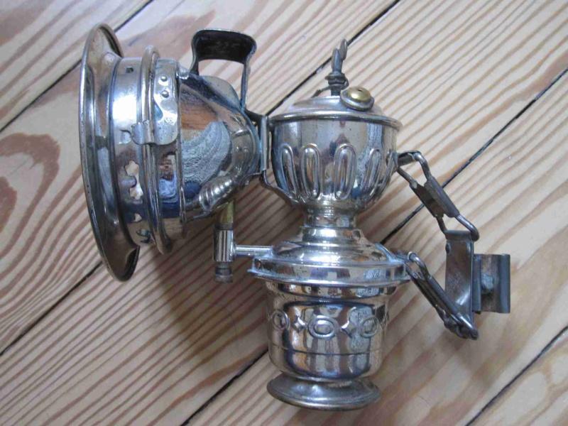 Reich verzierte Karbidlampe