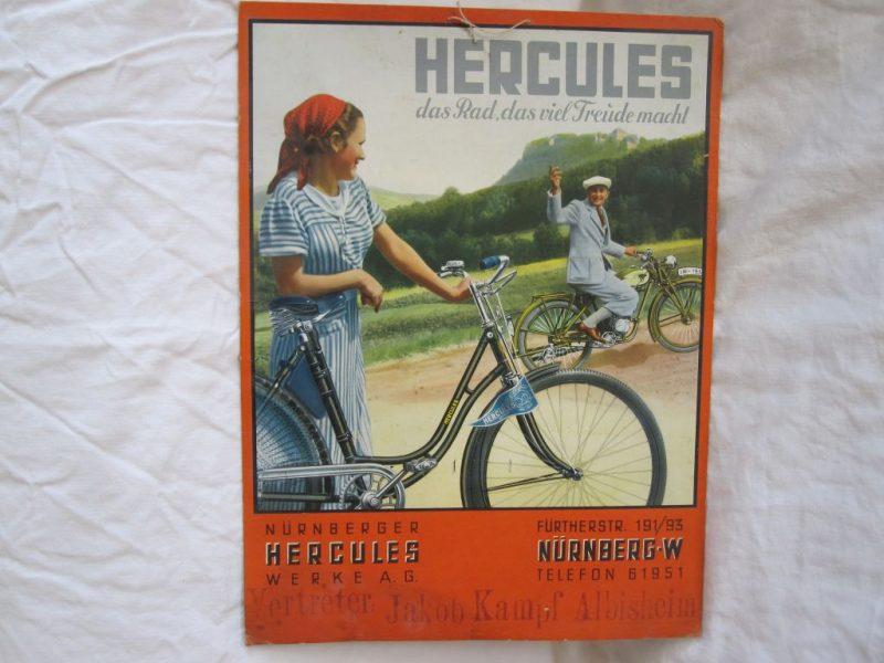 Hercules-Werbepappe 30er Jahre