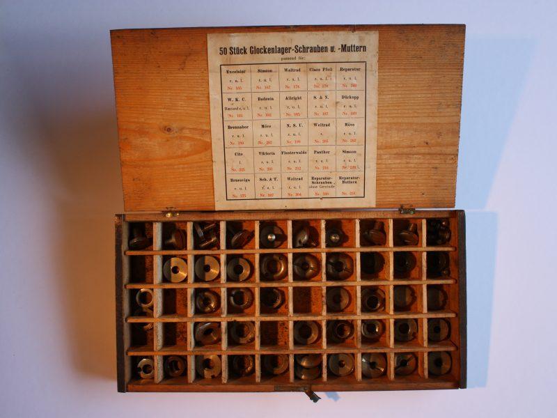Glockenlager-, Schrauben- und Mutternsortiment
