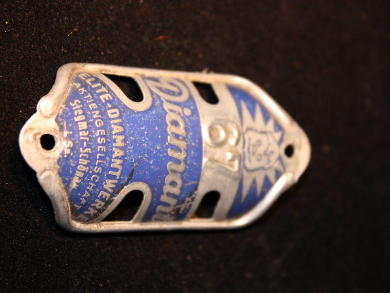 Diamant Steuerkopfschild, Mod. 67