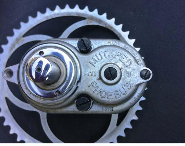 """Schweizer Fahrrad Getriebe PHOEBUS """"Mutaped"""""""