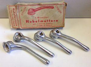 1 Garnitur Hebelmuttern für Rennrad/Sportrad, unbenutzt im Originalkarton