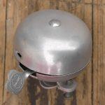 Aluminium Klingel, Zella Mehlis, rares Voll-Aluminium Modell, u.a. ideal für die Leichtbauräder der 30er Jahre, alte Neuware