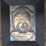 Plakette im Holzrahmen, RV Gesau Ehrenmedaille 30er Jahre, 36 x 25 cm