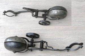 Hercules' Radlaufglocke, damals bestes Modell auf dem Markt, unüberhörbar, optisch mit Patina, 10-20er Jahre, technisch gut