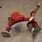 Kinder-Dreirad rot, orig. 50/60er Jahre