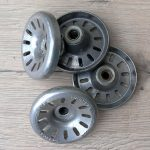 Mutternsatz Aluminium, rare alte Neuware, Komplettsatz für vorne und hinten