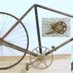 Gritzner 1912-1916: Gritzner Fragment mit Gritzner-Hinterrad, Hohlkammerfelge, selten