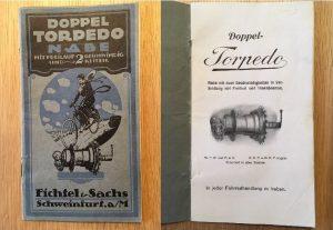 Einbauanleitung F&S Doppel-Torpedo Nabe 20er Jahre für die F&S Doppel-Torpedo Nabe. 20 Seiten. Die mittlere Doppelseite ist lose. Sonst guter Zustand.