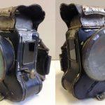 Öllampe Powell&Hanmer. Fahrrad-Öllaterne 'DEMON' von Powell&Hanmer, ca. 1895, im Originalzustand, komplett und intakt, leichte Farbverluste erkennbar, sonst wenig benutzt und unverbraucht, aller Gläser in Ordnung