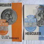 2 Prospekte Hercules 1930er Jahre, Größe ca. DIN A5, einmal 4-seitig, einmal 6-seitig, schöne Erhaltung mit leichten Knickspuren