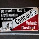 Lot 101: Concordia Gasthofschild, ev. Replik - Ausrufpreis: 100,00€