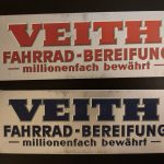 Lot 45: Veith-Pappschilder 2 St., 1930er - Ausrufpreis: 10,00€