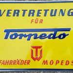 Lot 61: Torpedo Blechschild , 29 x 39 cm, 1950er - Ausrufpreis: 1,00€